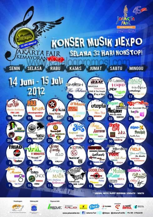 Jadwal Pekan Raya Jakarta 2012 - Dio Prasetyo
